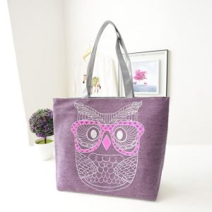 2016 New Design Fashion Lady Owl Shopping Handbag Shoulder japan Canvas Bag Tote Purse Bags bolsa feminina para mujer
