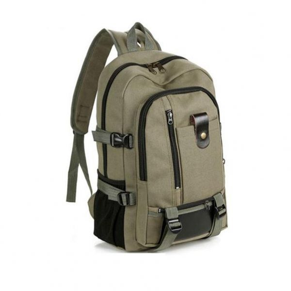 2016 Women's Backpack Vintage Travel Canvas Leather Backpack  Rucksack Satchel School Bag mochila feminina