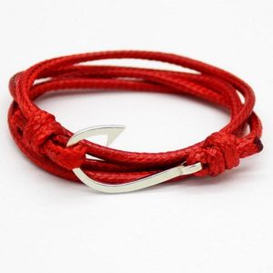 Fashion Retro Leather Bracelets For Men Popular Bandages  Anchor Bracelets BK