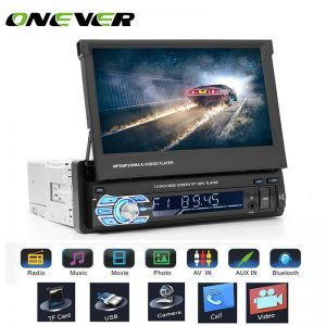 "Onever 7"" Retractable Autoradio GPS Bluetooth Navigation Car Stereo MP5 Player Touch Screen Support Hands-free Call Rear Camera"