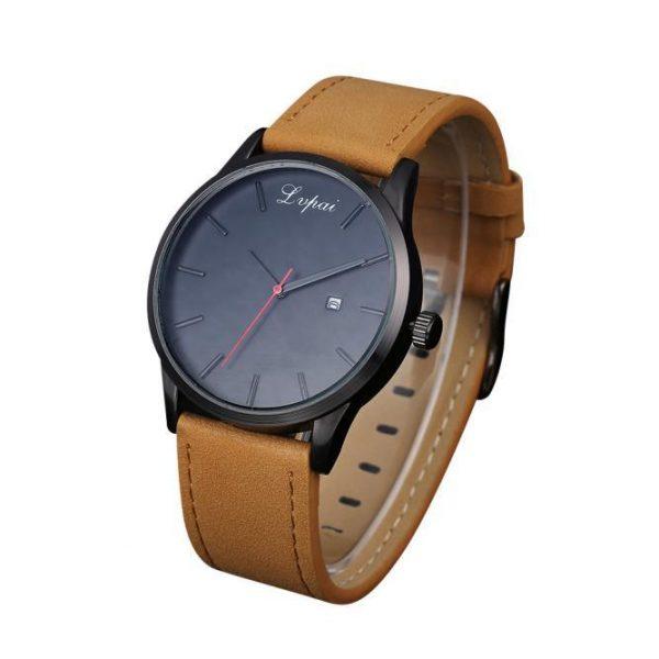 Popular Low-key Minimalist Connotation Leather Men's Quartz Wristwatch