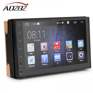 """7"""" Slim 2 DIN Car Radio Player Bluetooth GPS Navigation Android 5.1 Capacitive Touch Screen MP5 Player with WIFI Rear Camera"""