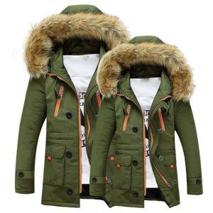 Warm Winter Hooded Fur Jacket