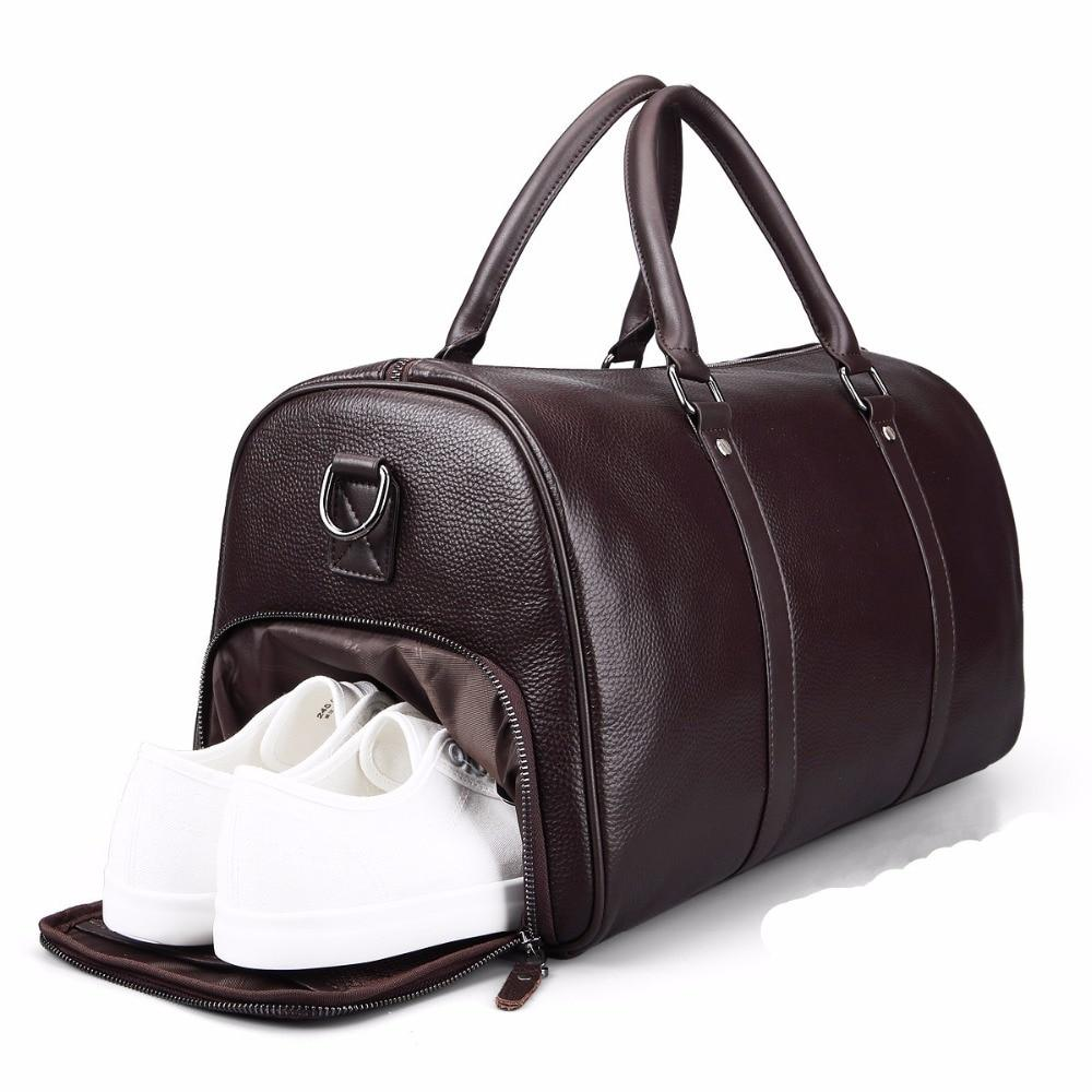 Luxury Leather Men's Travel Bag