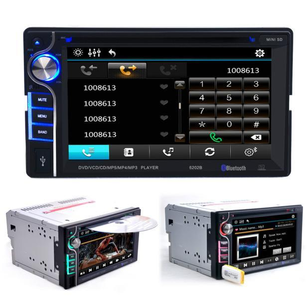 Double 2 Din 6.2 In Dash Stereo Car DVD CD Player Bluetooth Radio