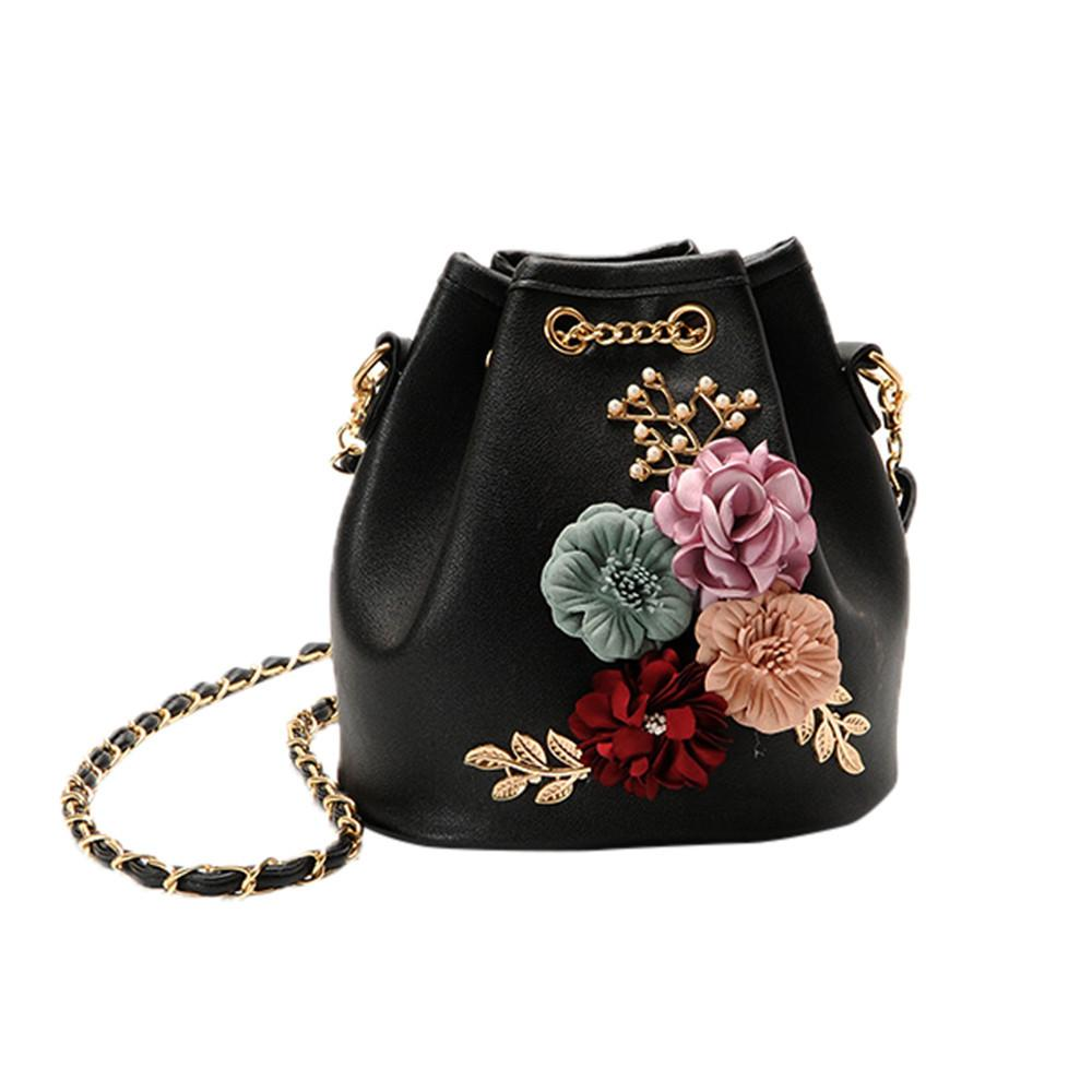 Women New Fashion Applique Handbag Shoulder Bags Purse Messenger Bag