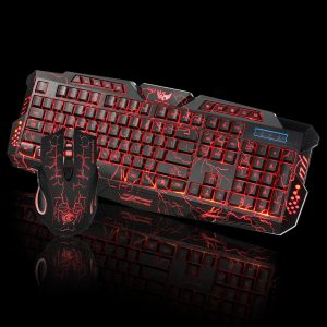 LED Gaming Wired 2.4G keyboard and Mouse Set to Computer Multimedia Gamer