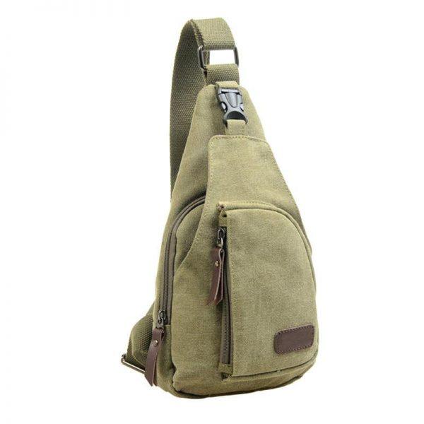 Outdoor Sports Canvas Unbalance Backpack Crossbody Shoulder Bag Chest Bag