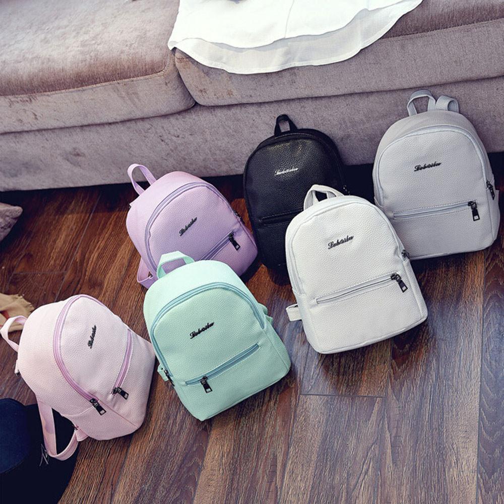 Girls Leather School Bag Travel Backpack Satchel Women Shoulder Rucksack