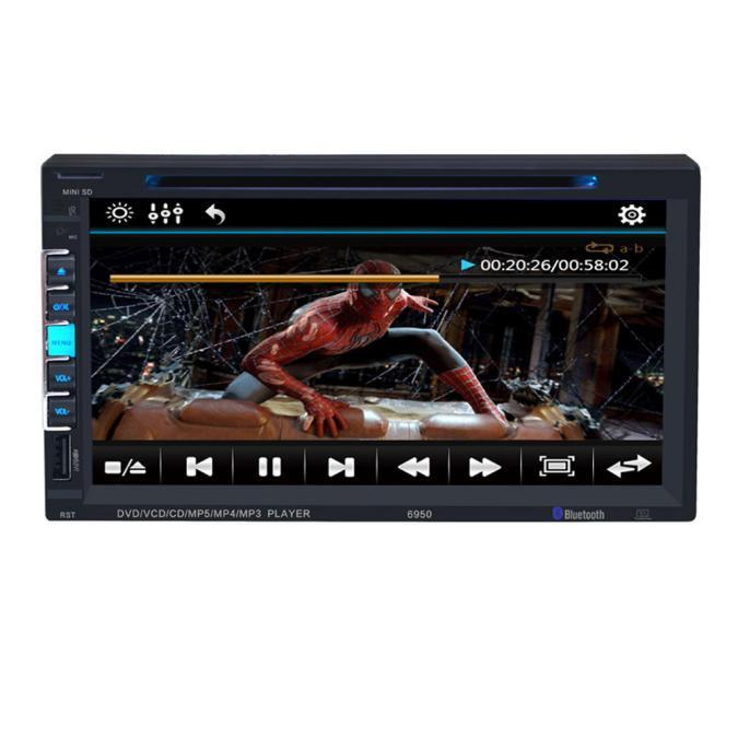 7 In Dash 2 Din HD Car Stereo DVD Player Bluetooth Touch Screen FM Radio USB SD