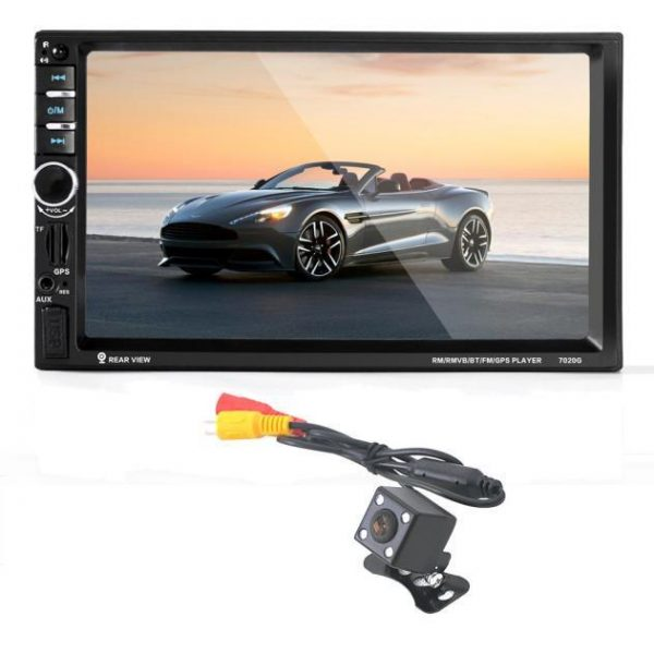 7 HD Bluetooth Touch Screen Car GPS Stereo Radio 2 DIN MP5/MP3/USB/AUX+ Camera