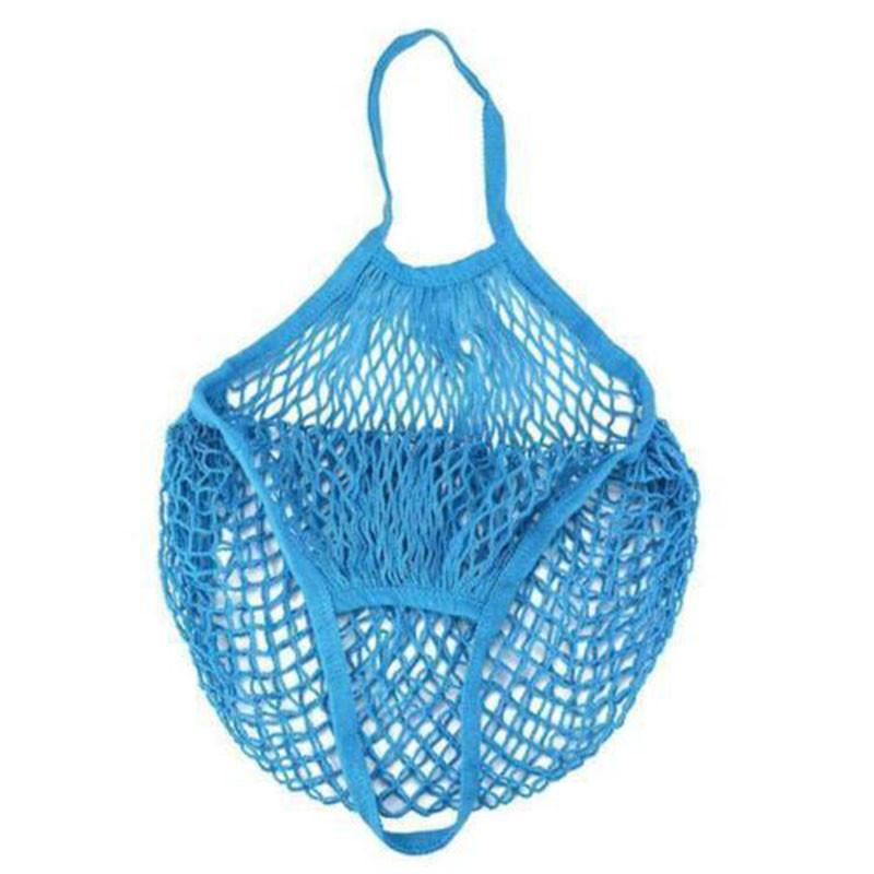 1pc Mesh Net Bag String Shopping Bag Reusable Fruit Vegetables Handbag