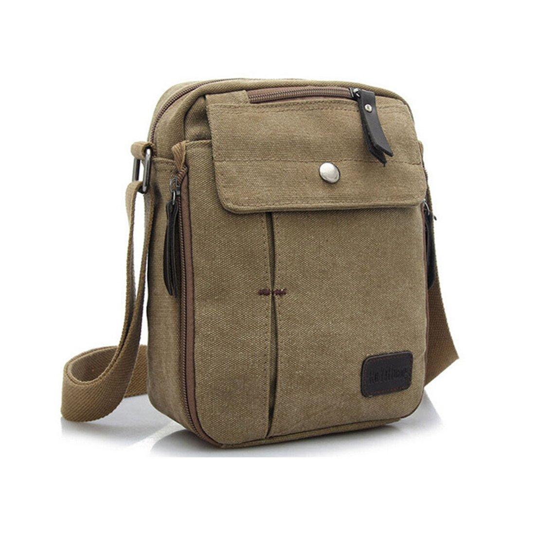 Stylish Men'S Canvas Messenger Bag