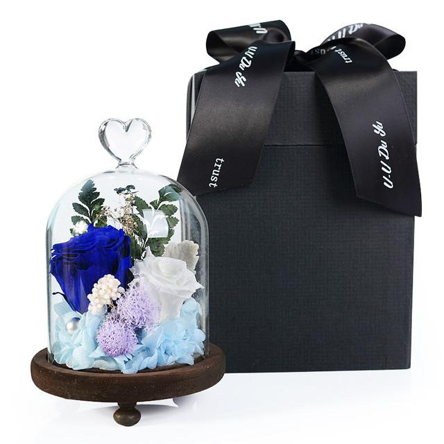 Natural Preserved Rose With Glass Case