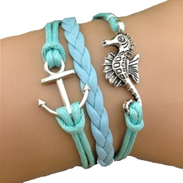 Seahorse Anchor Blue Bracelet