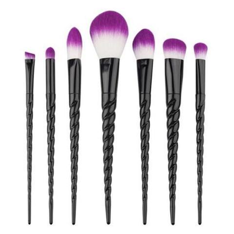Pro Black Unicorn Brush Set