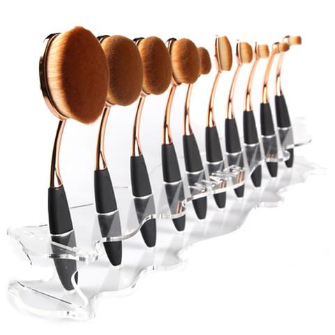 Oval Brush Set Holder Stand