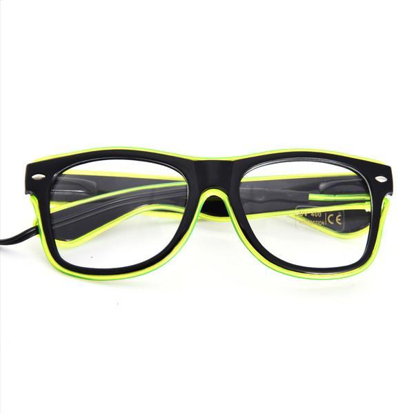 LED Glow Fluorescence Glasses