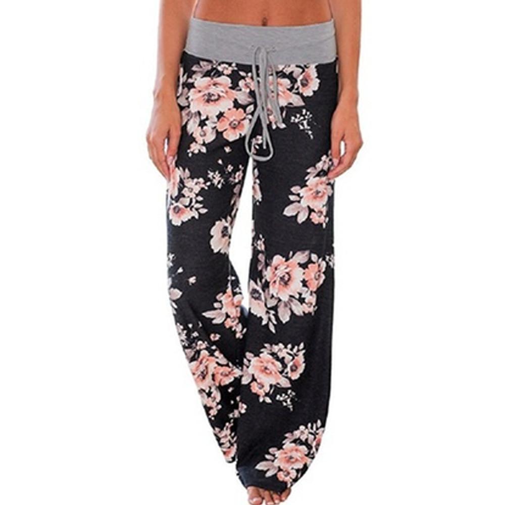 Women's Loose-Fit Floral Pants