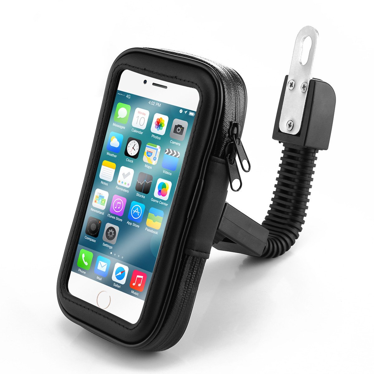 Powstro Universal Waterproof Motorcycle Bike Scooter Mobile Phone Holder Bag Case for iPhone 8 7 Samsung Support 4.7-6.3 Inch