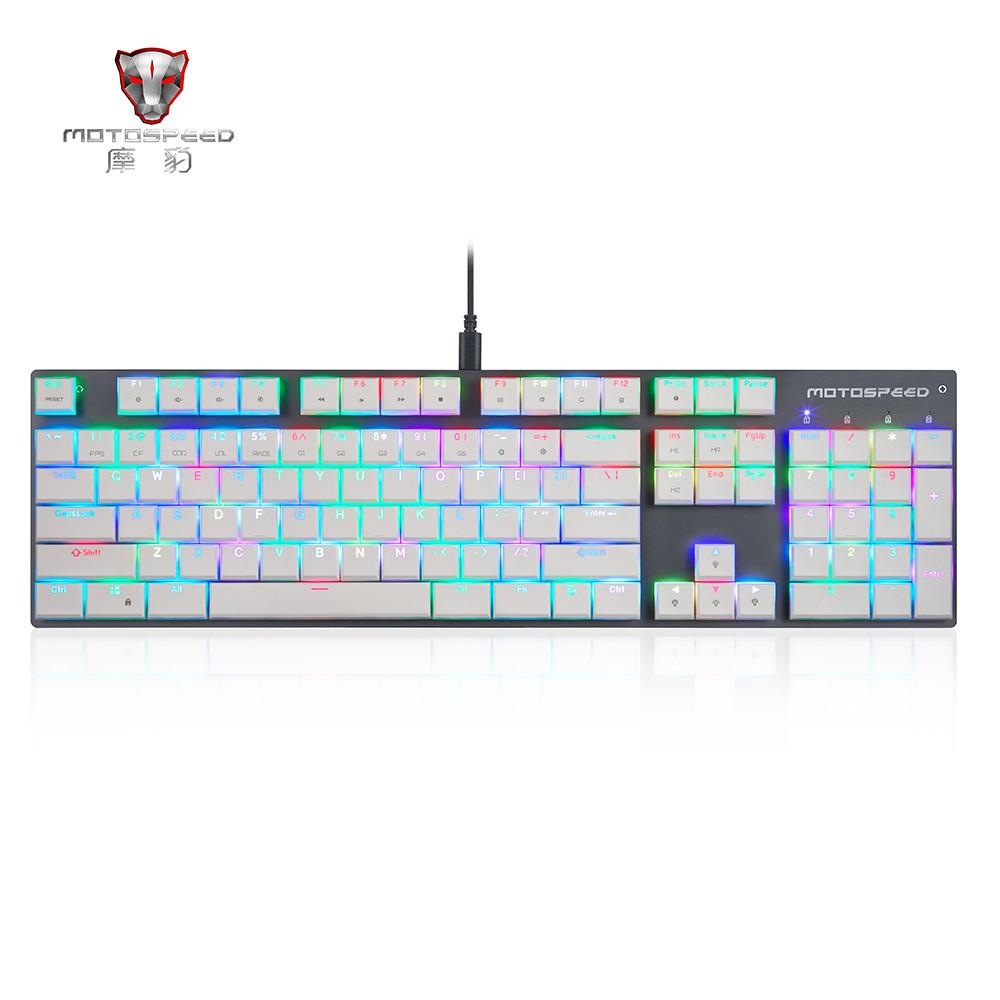 MOTOSPEED CK94 104 Keys USB Wired RGB Backlit Mechanical Gaming Keyboard
