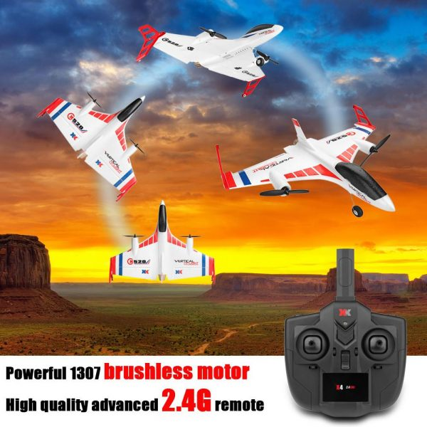 XK X520 2.4G 6CH 3D/6G Airplane Vertical Takeoff Land Delta Wing RC Glider