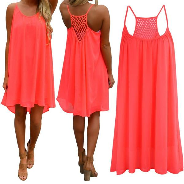 Beautiful Fluorescent Beach Dress