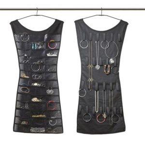 Double-Sided Black Dress Jewelry Organizer
