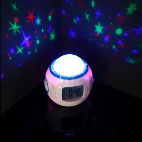 Musical Star Projection Alarm Clock