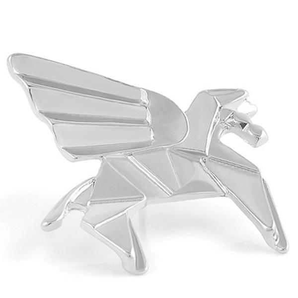 Silver Pegasus Origami Pin
