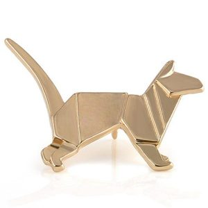Golden Cat Origami Pin