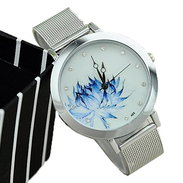 Unique Blue Rose Watch