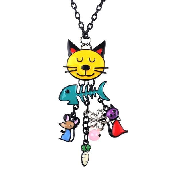 Cat Fish Pendant Necklace