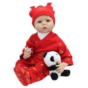 Lifelike Reborn Baby Doll 55cm Newborn Doll Kids Girl Playmate Birthday Gift